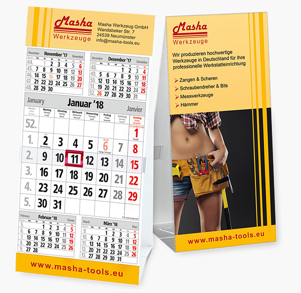 "5-Monatskalender ""Table 5"" M5 TK"