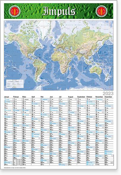 "Plakatkalender ""Globus"" MW 12"