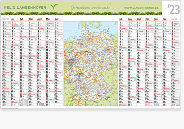 "Plakatkalender ""EDIT MAP"""