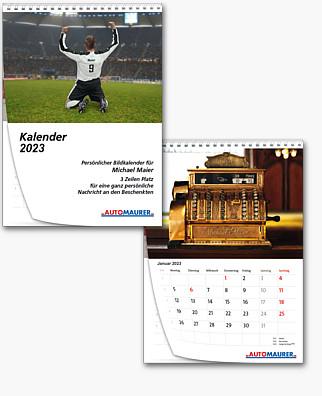 Wandkalender mit Bildpersonalisierung KFA4