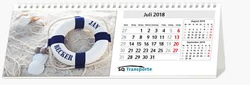 "Bildpersonalisierter Tischquerkalender ""Basic"" KFMB"