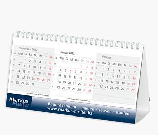 """3-Monats-Tischkalender """"Desktop"""" DT 6"""
