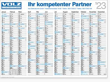 "Falt-Plakatkalender ""Gamma"" FK 12"