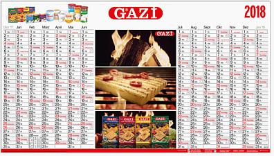 Plakatkalender mit AUGMENTED REALITY Effekt AR1 IK
